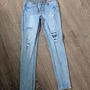 Girls Vanilla Star size 10 distressed jeans
